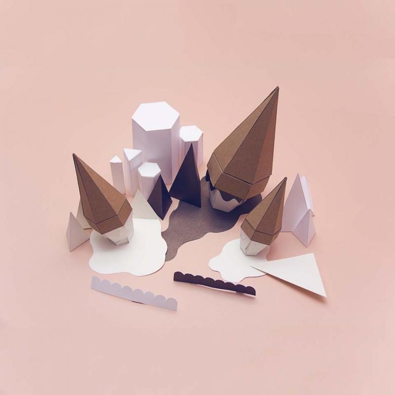 Ice Cream Paperscape